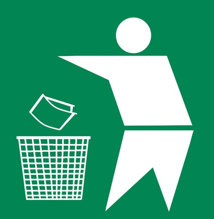 Bin and recycle symbol, Keep Clean