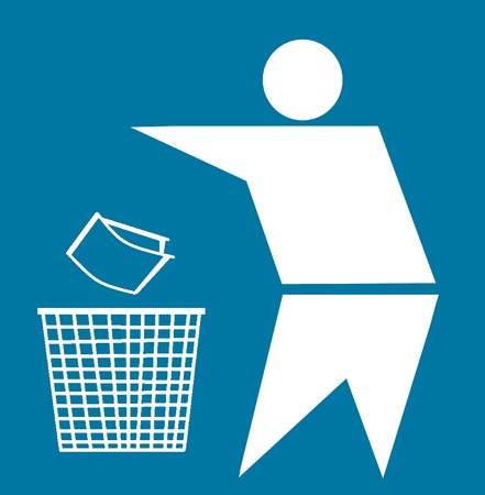 Bin and recycle symbol, Keep Clean Stock Photo