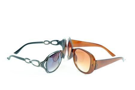 shortsighted: The eyewear looking at the eyewear on white background.