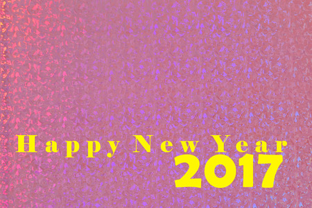 Happy new year 2017 on pink background Stock Photo
