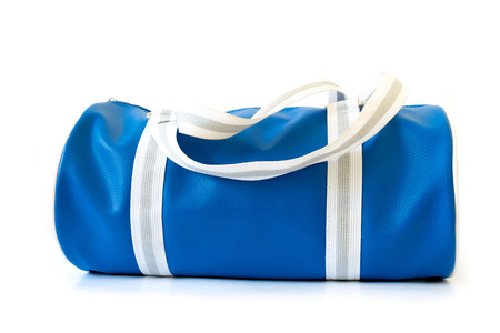 topicality: A blue bag on white background.