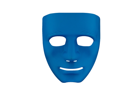 Blue mask on white background with clipping path.