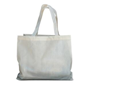 Cloth bag on white background.