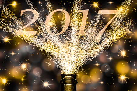2017 over fizzing champagne
