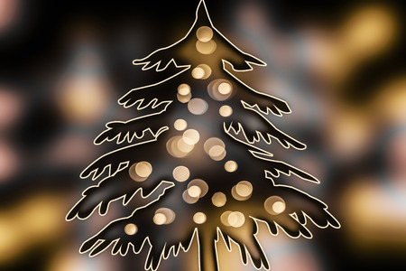 adorned: adorned fir in winter Stock Photo
