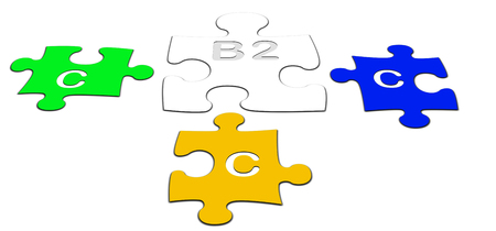b2c: colorful puzzle pieces B2C