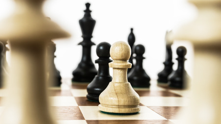 deliberation: pawns standing face to face