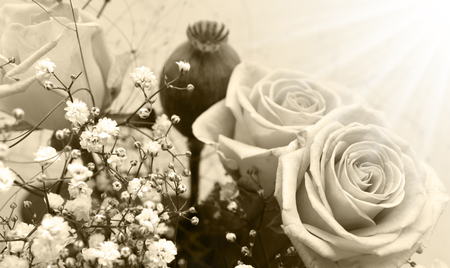 betroth: retro bouquet of roses