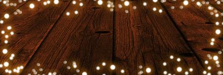 Ciąg świąteczne światła panorama Zdjęcie Seryjne