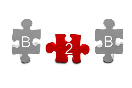b2b: B2B piezas del rompecabezas 3d