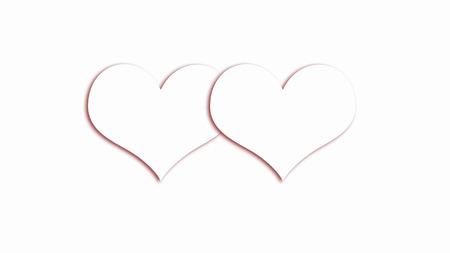 unobtrusive: white hearts on white