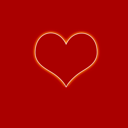 graphical heart on red background Stock Photo