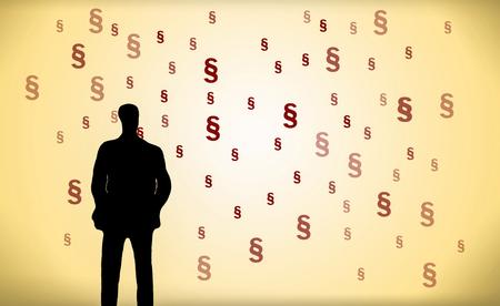 staande zakenman in de voorkant van de vele leden Stockfoto