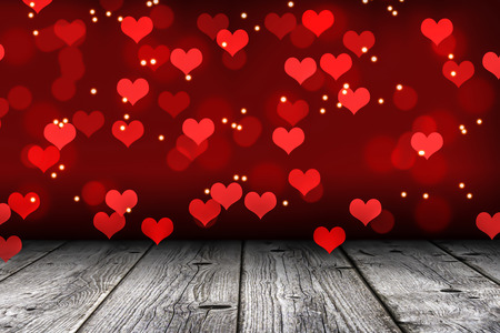 wafting: wafting hearts in a romantic room Stock Photo