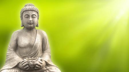buddha in springtime Stock Photo
