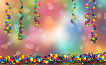 party streamers on abstract party background
