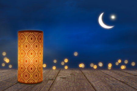 ornamant lamp in moonshine