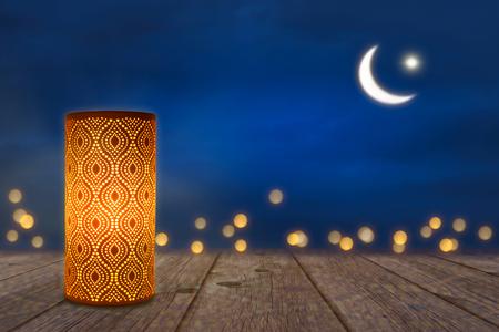 Lampe ornementale en clair de lune Banque d'images - 95914405