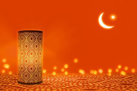 romantic ornament lights on orange
