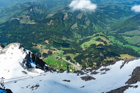 view from peak säntis in switzerland