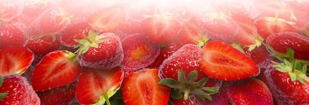fresh strawberries in sunshine