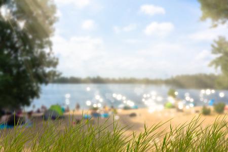 summer day at the beach Banco de Imagens