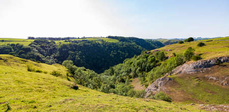 Dovedale-A beautiful landscape on a sunny day in a natural nature reserve in England