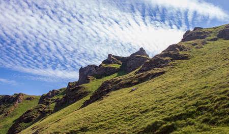 Mam Tor Peak District in England. Beautiful mountain views.