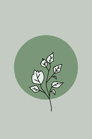 Printable minimalist botanical illustration. Home decor, wall art. Boho.
