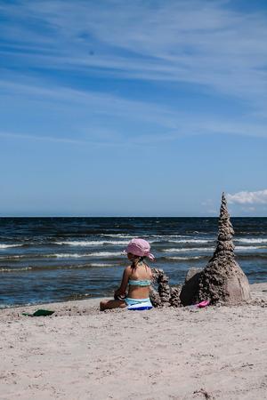 babygirl: girl at the seaside Stock Photo