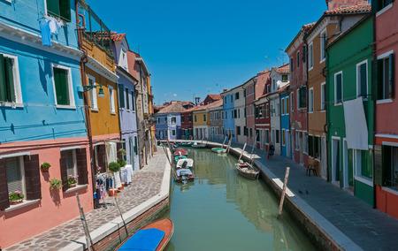 Colorful Burano village at Venice