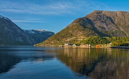 Eidfjord town, Norway. Stok Fotoğraf - 71441719