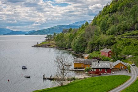 hardanger: Hardanger fjord, Norway. Stock Photo