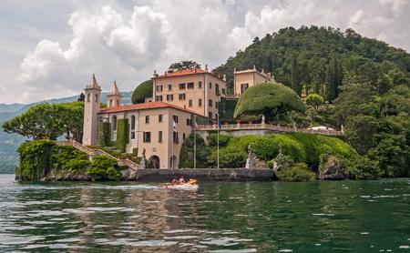 Beautiful villa at Lake Como, Italy. Stock Photo
