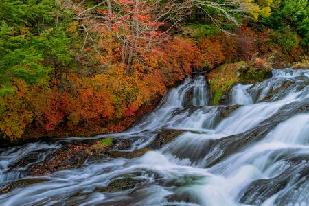 Ryuzu fall in autumn season, Nikko, Japan. Stok Fotoğraf