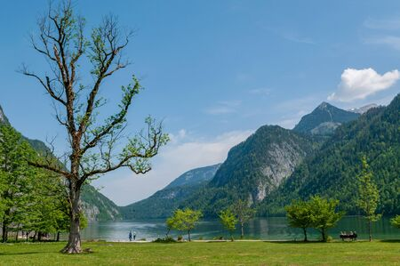 Konigssee, the deepest and cleanest lake in Bavaria, Germany.