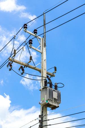 power transformer: Power transformer Stock Photo