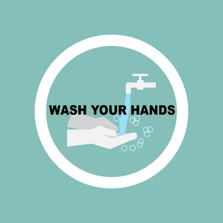 Waschen Sie Ihre Hände Pflichtzeichen Standard-Bild - 98522809