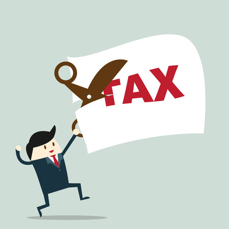 Foreman tax payment deduction. Business Concept vector Illustration.
