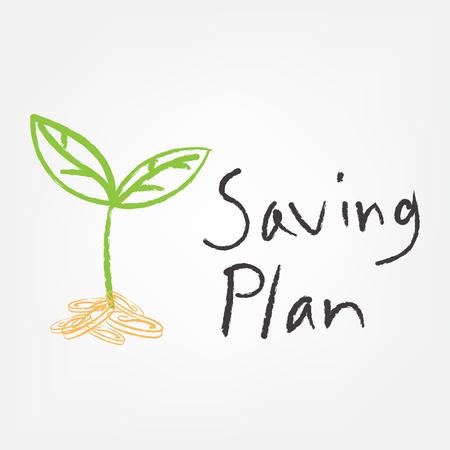 financial planning illustration over white background. vector illustration Иллюстрация