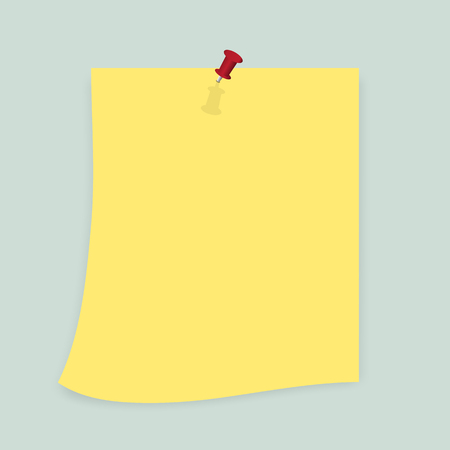 Sticky Notes -yellow sticky notes isolated on white background. Vector illustration, Eps10.