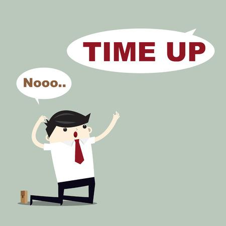business man workforce Concept. time's up  Illustration