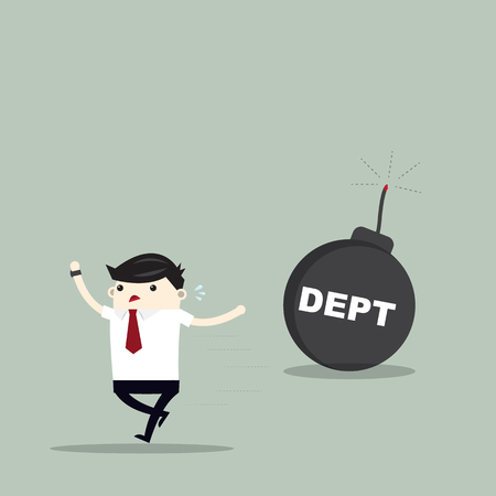 Debt business concept illustration.