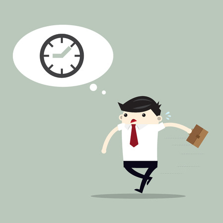 Businessman and time problem , problem at work concept. vector