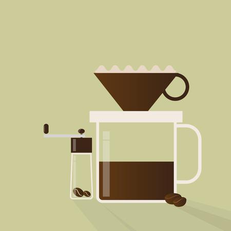 Drip pot coffee maker Ilustracja