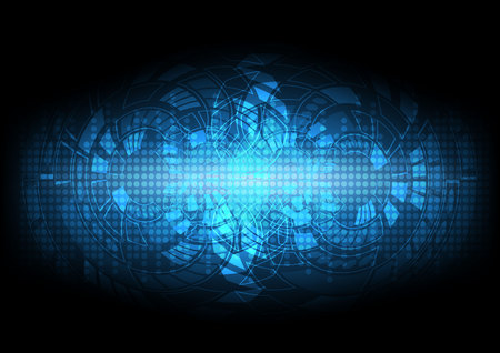 abstract blue sci-fi background for technology illustration Ilustracja