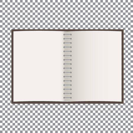 Blank notebook paper Ilustracja