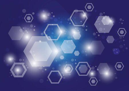 abstract hexagon pattern sci fi scientific design tech innovation concept background Ilustracja