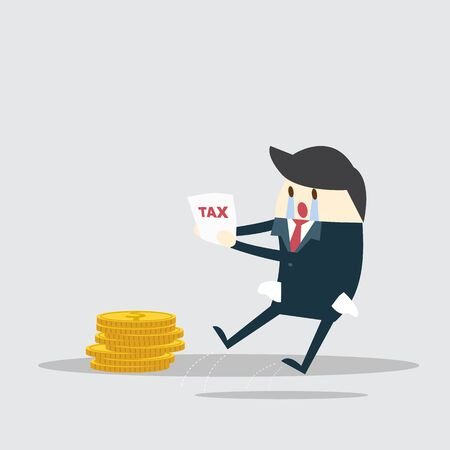 Tax and business man Stock Illustratie
