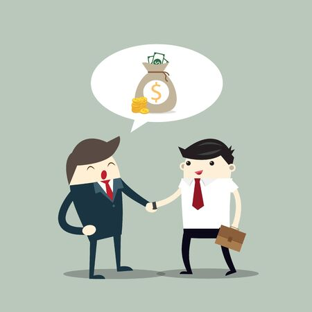 Business man Two persons are shaking hands, business teamwork and contact concept Stock Vector - 132205963